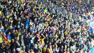 """Беларусь - Украина: как """"Борисов-Арена"""" скандировала """"Жыве Беларусь"""" и """"Слава Украине"""""""