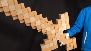ダンボールで変形するマイクラの剣を作る/Transforming Minecraft sword/pickaxe cardboard DIY