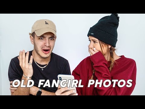 Reacting To My Wife's Old Fangirl Photos...