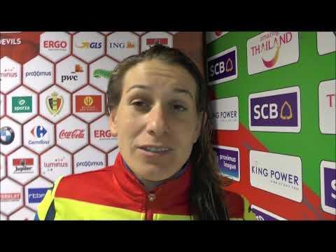 Laura Rus after Belgium - Romania on 20.10.2017