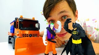 Бэтмен и Джокер. Видео обзор Грузовик-снегоуборщик.