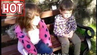 [Vietsub] Chị 4 tuổi lên lớp em 2 tuổi cực kì dễ thương, chi 4 tuoi day e 2 tuoi.FLV