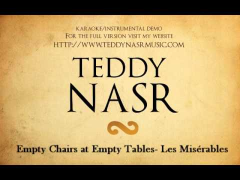 Instrumental / Karaoke - Empty Chairs at Empty Tables from Les Miserables ( Teddy NASR )