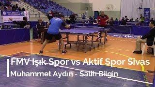 Muhammet AYDIN 3 (FMV Işık Spor) - Salih BİLGİN 1 (Aktif Spor Sivas)