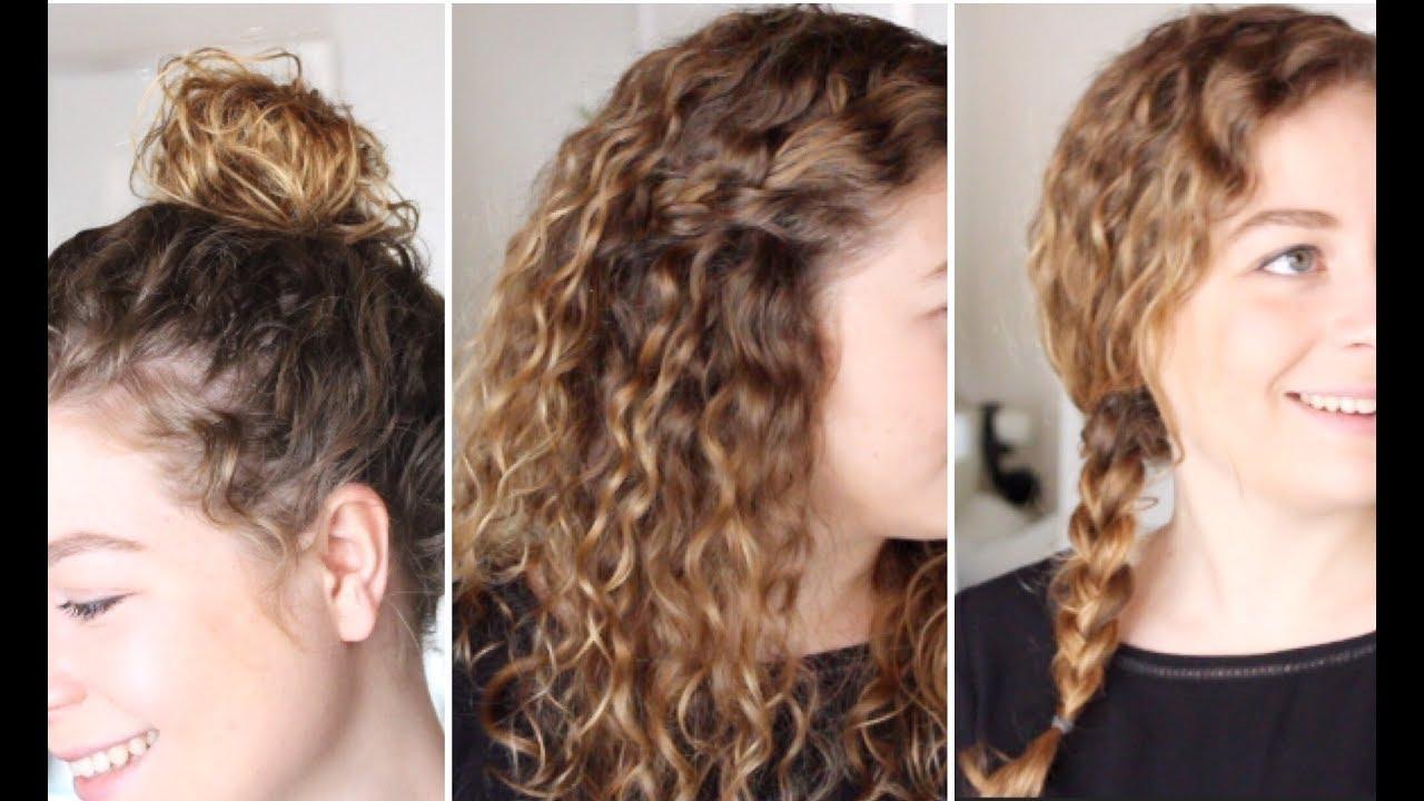 4 coiffures pour les cheveux bouclés (feat. la belle boucle) ✨ marion blush