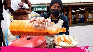 Bhutanese STREET FOOD at Farmers Market - Chili Momos, Honey & Dry Chilis   Thimphu, Bhutan