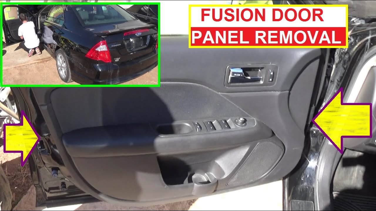 Front Door Panel Removal Ford Fusion Second Generation 2009 2010 ...