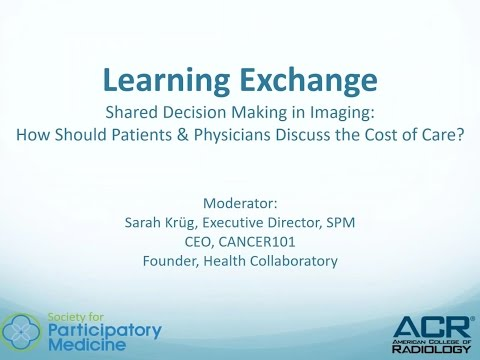 Shared Decision Making in Radiology - How Should Patients and Physicians Discuss the Imaging Costs