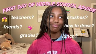 FIRST DAY OF MIDDLE SCHOOL ADVICE| Dihanna's World