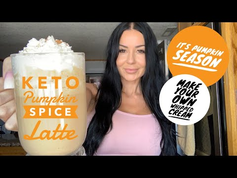 EASY KETO PUMPKIN SPICE LATTE | HOW TO MAKE YOUR OWN CLEAN KETO WHIPPED CREAM AT HOME | KETO RECIPES