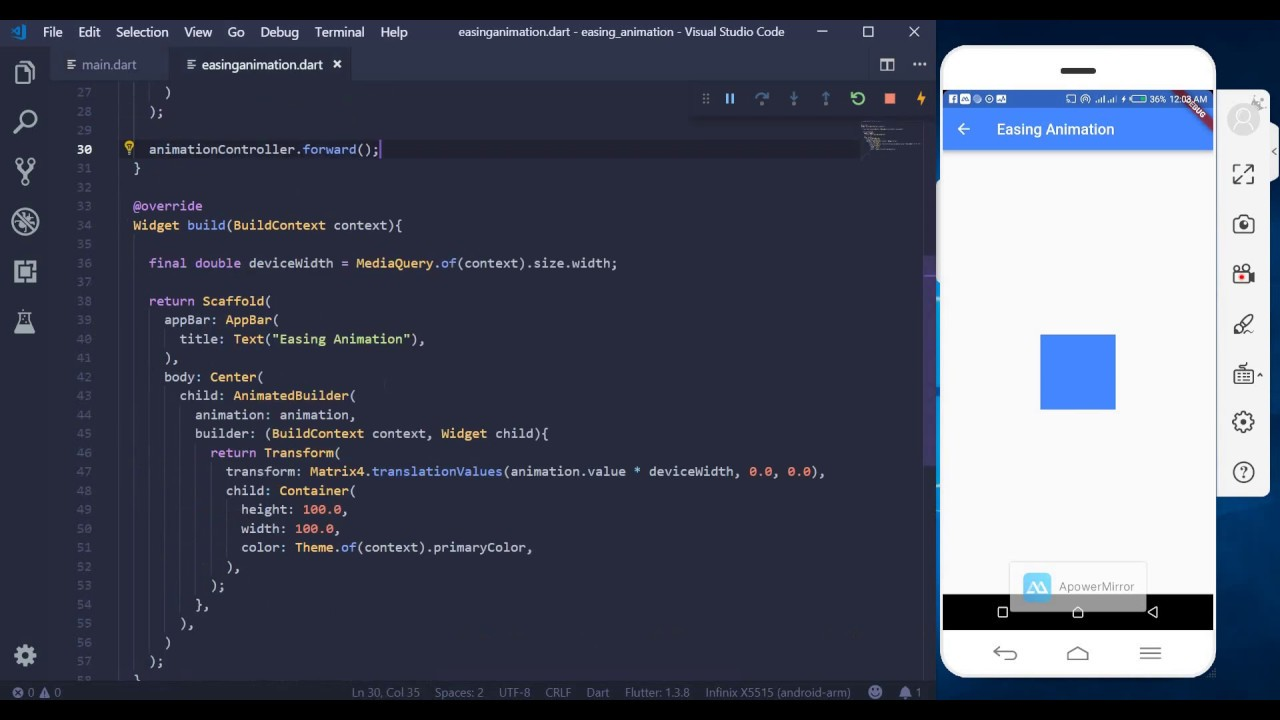 Animations in Flutter - 1. Easing Animation