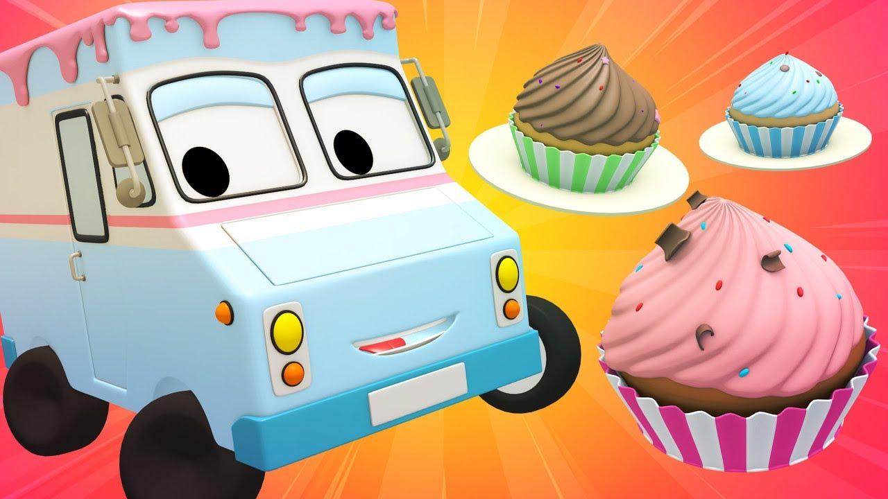 Tiny Town-Ciasteczka i Czarodziejki-Tiny Town:Uliczne Auta Ambulans Radiowóz Policyjny Wóz Strażacki