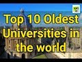 Top 10 Oldest Universities in the World | News 101