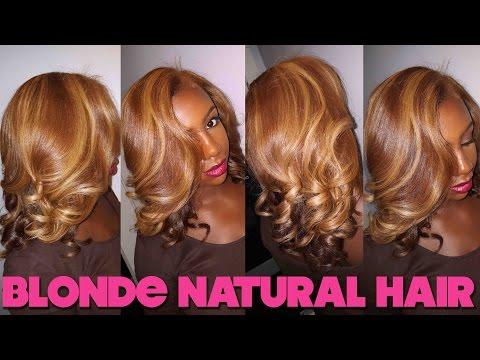Blonde Bombshell : Natural Hair