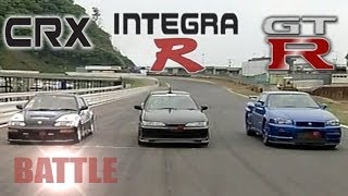 [ENG CC] Spirits Integra R vs. Nissan GT-R R34 vs. K-Shift CR-X HV45