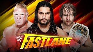 Dean Ambrose VS Roman Reigns VS Brock Lesnar | WWF NO MERCY 2K16 MOD
