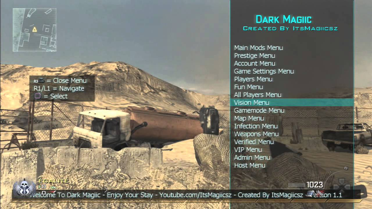 [Release] Dark Magiic RTE Mod Menu - Mw2 1.14 - YouTube