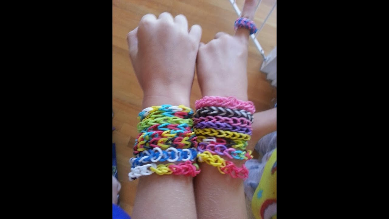 Rainbow Loom Bracelet By Hand How To Easy Youtube