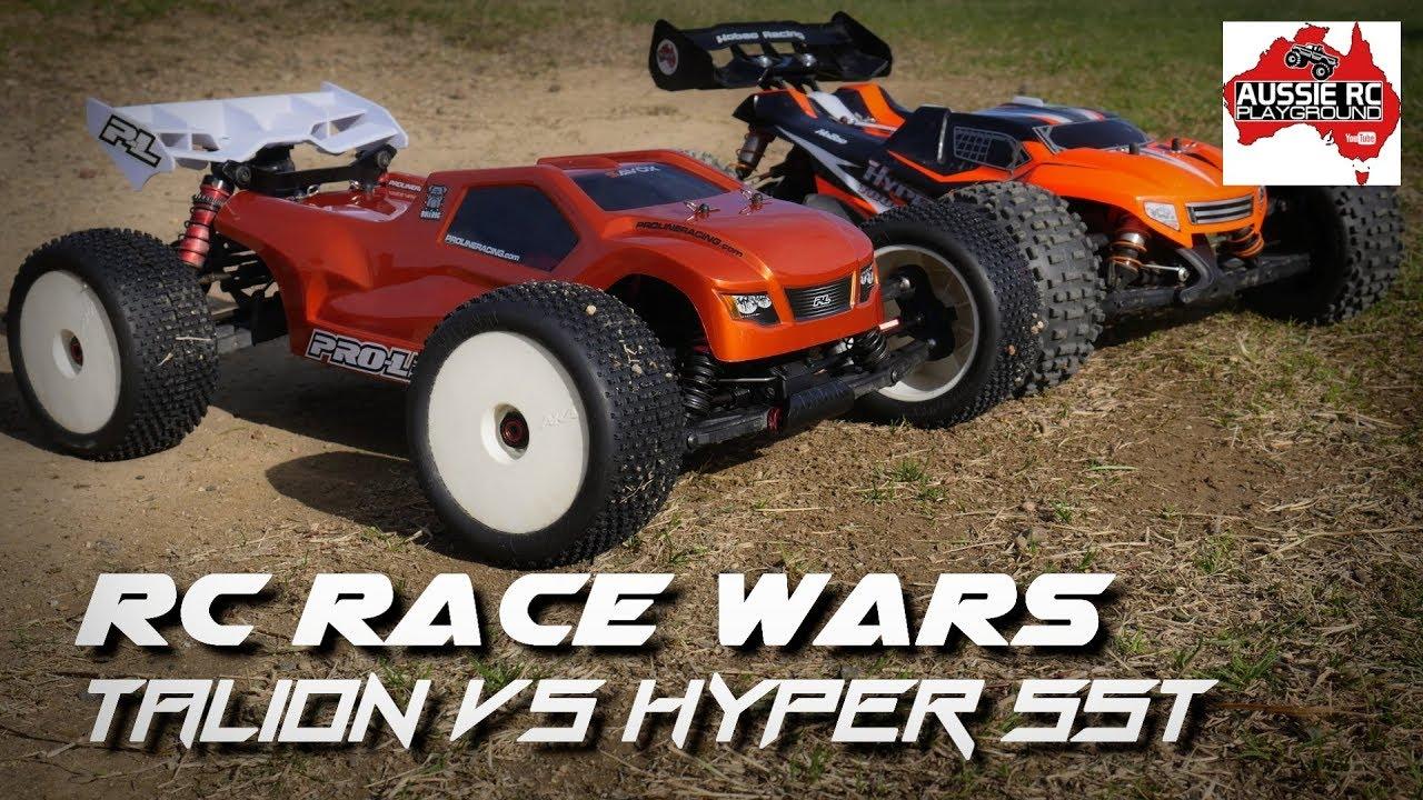 Rc Race Wars Talion V1 Vs Hyper Sst Youtube