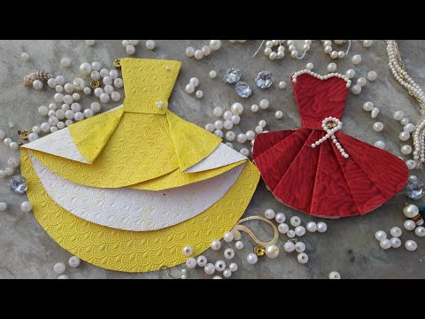 How to make paper dress in western style #westernwear #ethnicshoot #westernfashion #papercraft #craf