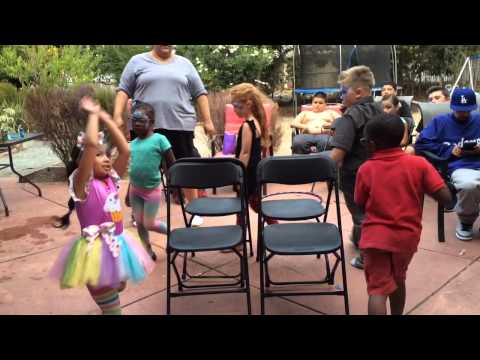 Musical chairs at Maleeya's birthday party
