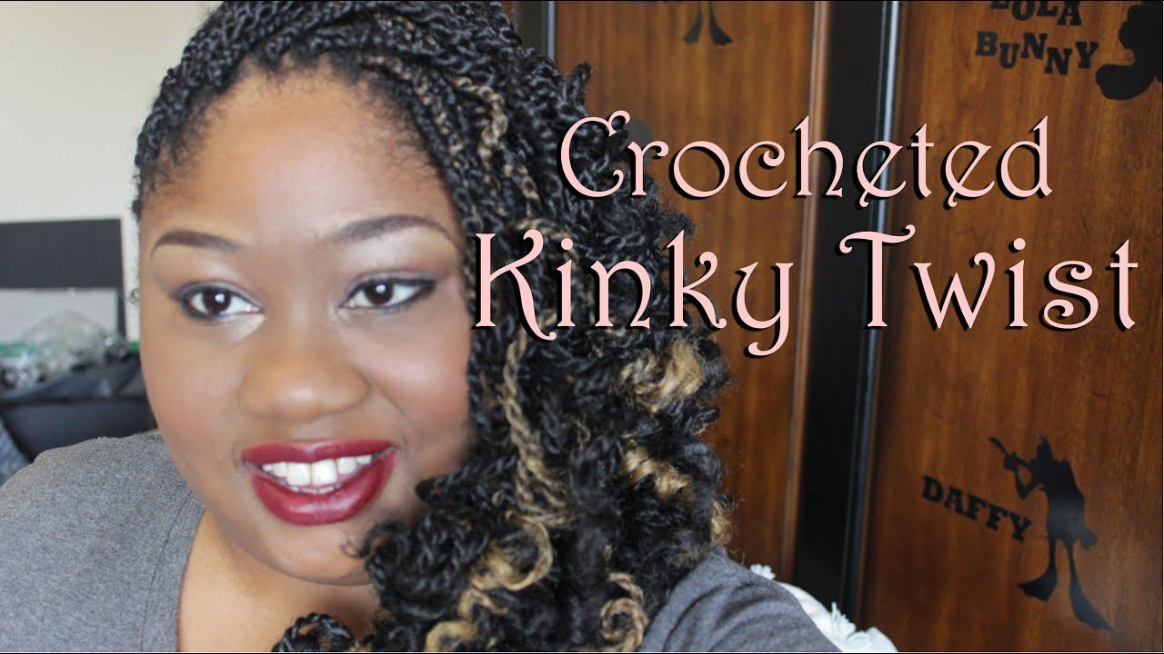 Natural Hair VlogKinky Twist Crochet Braids Protective
