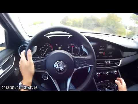 Alfa Romeo GIulia : départ arrêté sur route fermée