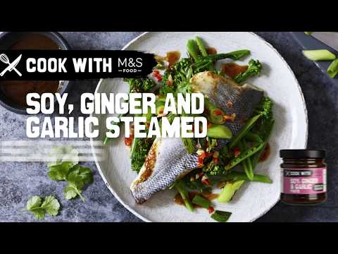 M&S   Cook with M&S... Soy, Ginger & Garlic Steamed Sea Bass