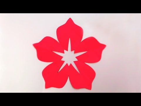 How to make 5 Petal Hand Cut Paper Flowers | Origami Flower | Easy Paper Crafts