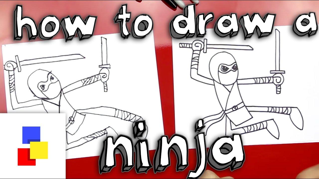 How to draw a ninja cartoon youtube ccuart Gallery