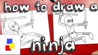 a ninja drawing lesson