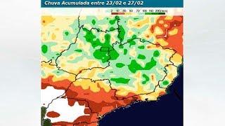 Frente fria mantém risco de temporais no RJ, MG e ES