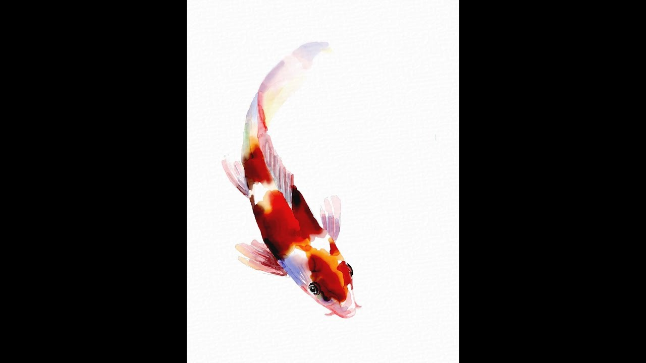 How to paint a koi fish using auryn ink youtube for Chinese koi fish painting