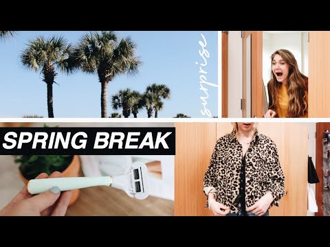 STYLING MY ROOMMATES for SPRING BREAK + our essentials