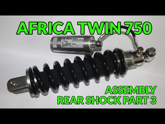 🔧 Africa Twin XRV 750 Rear shock - assembly (free service manual to  download)