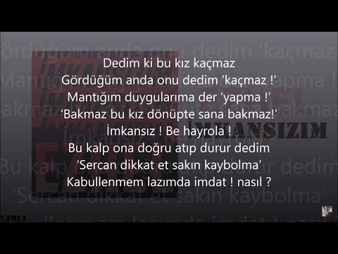 Ezhel - İmkansızım (Orijinal Şarkının Tamamı) (Sözler Ekranda) (with English Subtitles)