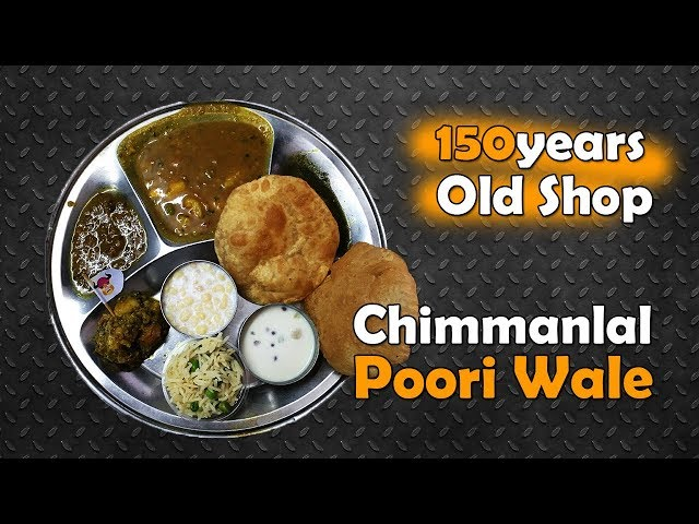 Chimmanlal 150 years old puri breakfast & lunch shop | Agra Food