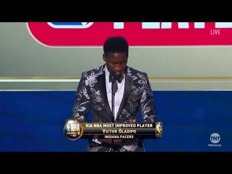 victor oladipo kia most improved award winner 2018 nba awards