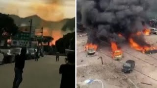 video: Tanker truck explodes into a ball of fire on Chinese highway, killing 19 people
