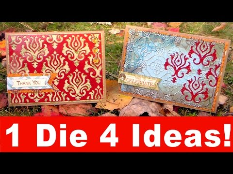 1 Die, 4 ideas, 2 Finished Cards!