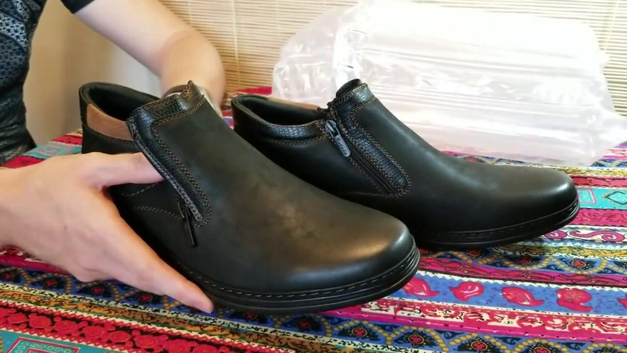 Зимние мужские ботинки с Алиэкспресс