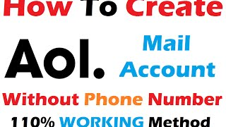 How to Create Aol Account Without Phone Number