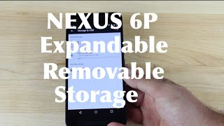 Nexus 6P and 5X Expandable Removable Storage!