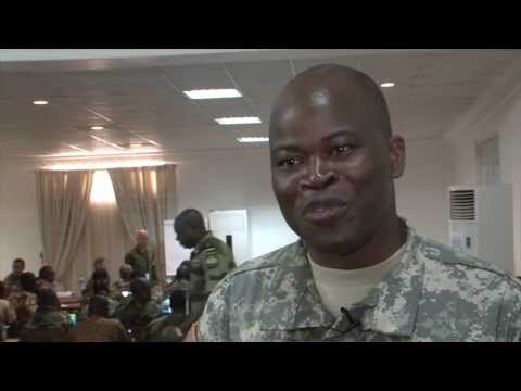 Missouri National Guardsman connects with African military members of Lusaka, Zambia.