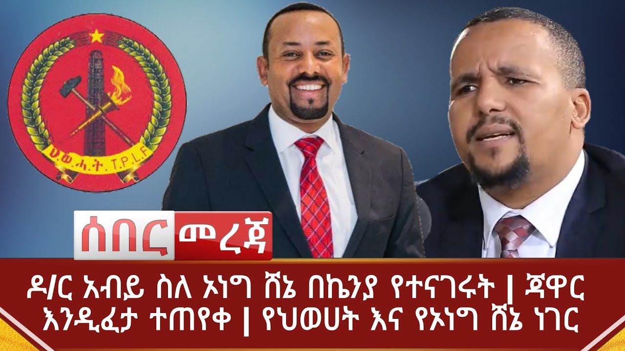 PM Abiy Finally Speaks About OLF