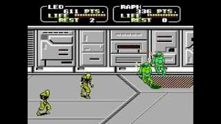 Teenage Mutant Ninja Turtles II: The Arcade Game NES 2 player Netplay game