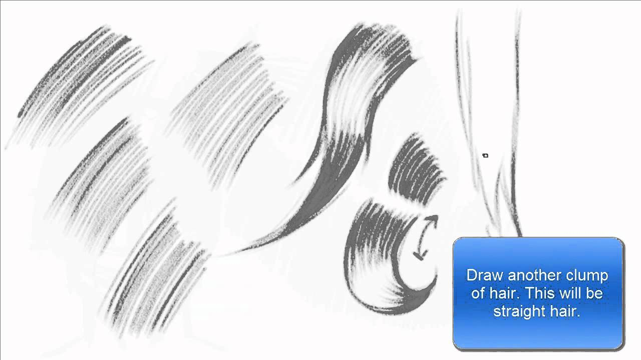 Drawing Amp Shading Hair Using Hatching Technique Basics