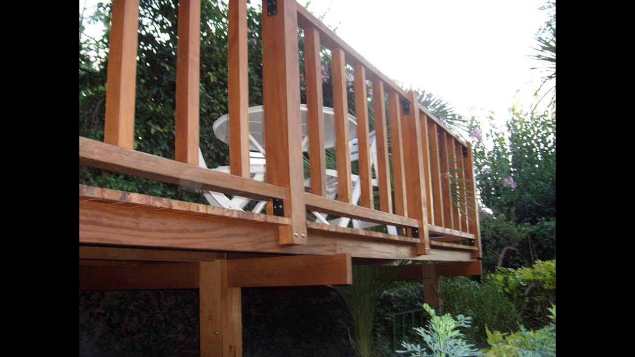 Barandas y cercos de madera del f brica de muebles de madera youtube - Barandilla de madera exterior ...