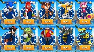Sonic Dash 2: Sonic Boom - All Characters Unlocked - NEw Chracter Vector the Crocodile Gameplay screenshot 4