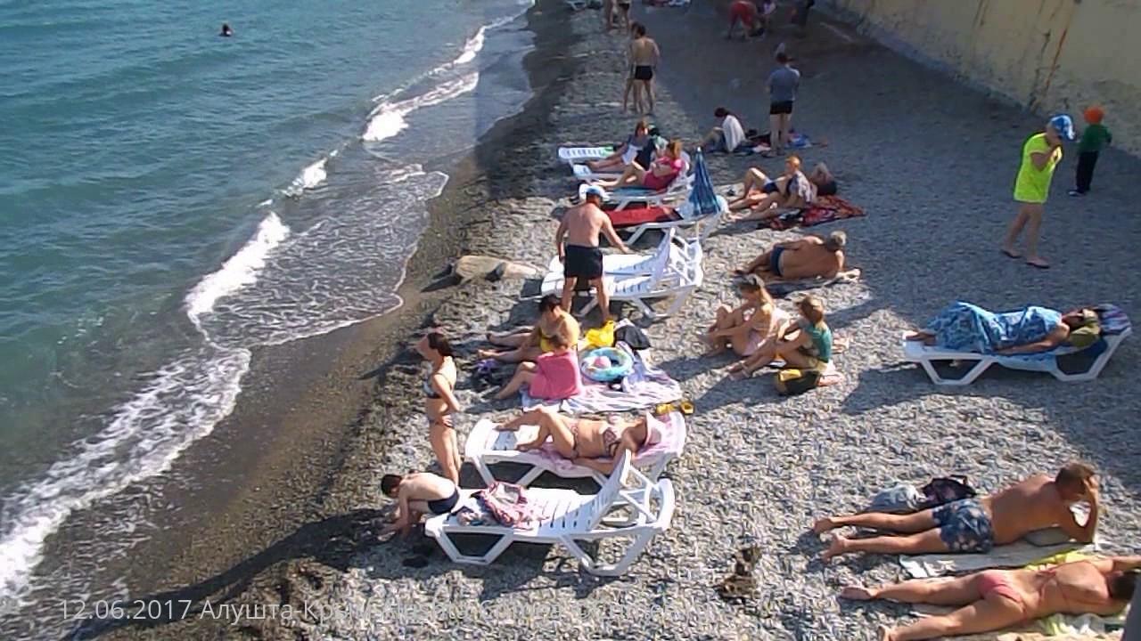 пляж в алуште фото